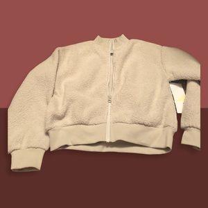 Z by Zella Light Grey Zip Up Jacket NWT